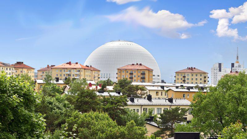 Hammarbyhöjden med utsikt mot Globen